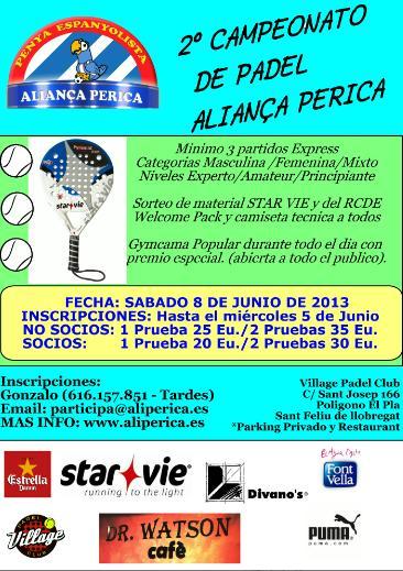 2o campeonato de padel Alianza Perica