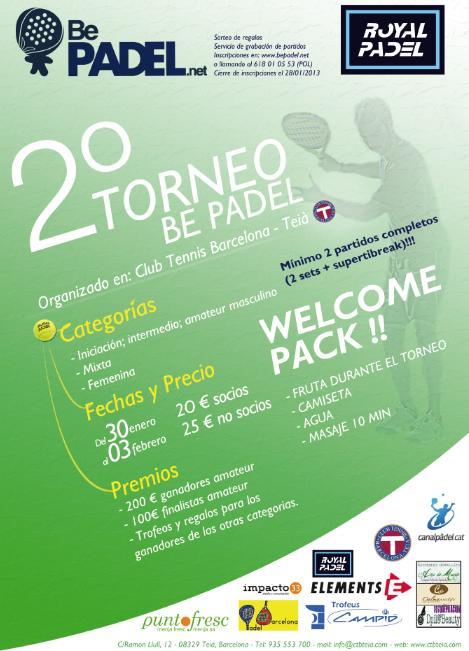2o torneo Be Padel En el CT Teia