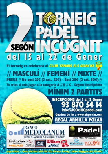 2on Torneig padel incognit