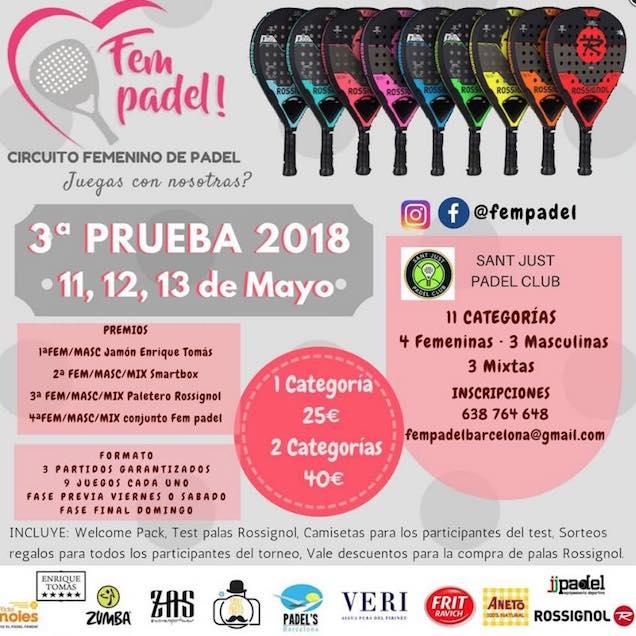 3a prueba torneo Fem Padel