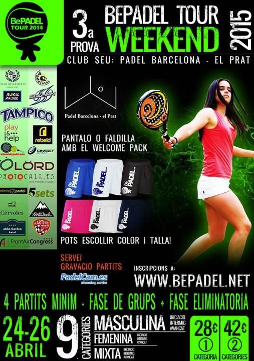 3a prueba BePadel Tour WEEKEND 2015