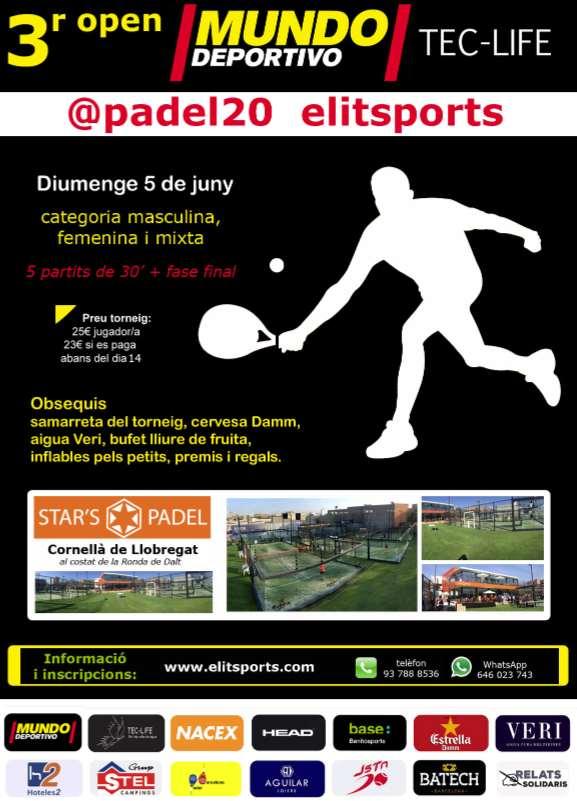 3er Open Mundo Deportivo padel20