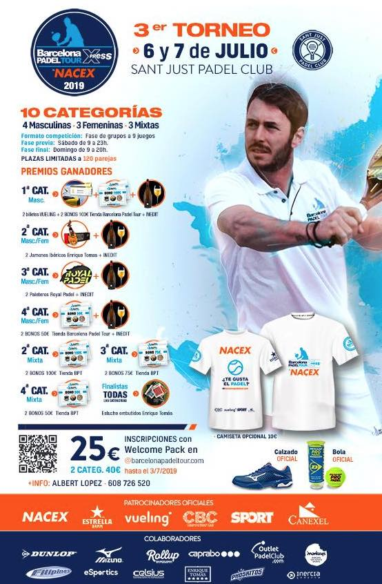 3er Torneo Barcelona Padel Tour Xpress By Nacex