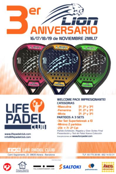 3er aniversario Lion Padel