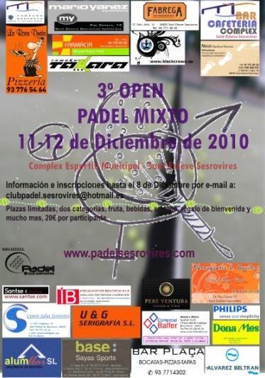 3er Open Padel Mixto en Sant Esteve Sesrovires