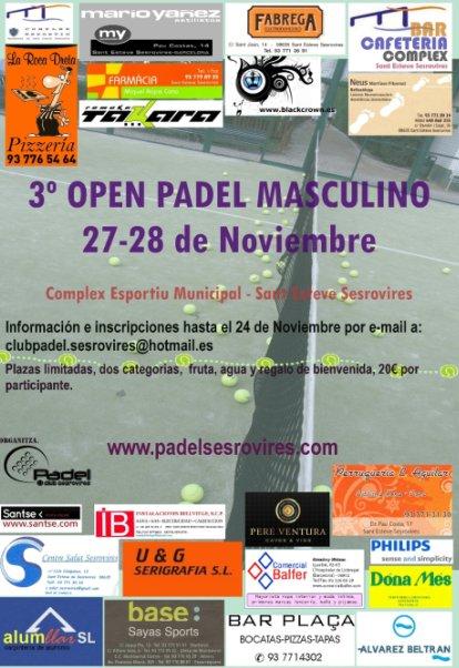 3er Open padel masculino en Sant Esteve Sesrovires