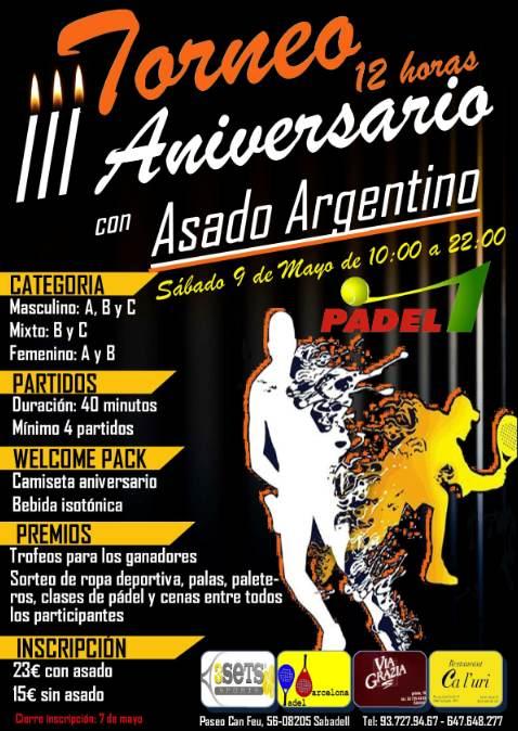 3er Torneo 12 horas aniversario Padel1