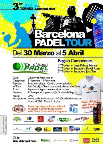 3er Torneo Barcelona Padel Tour Ca n Amat Padel Indoor