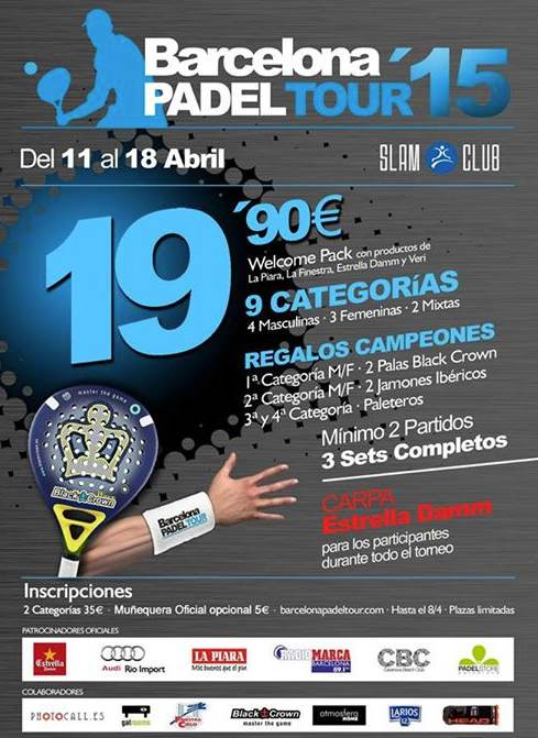 3er Torneo Barcelona Padel Tour en el Slam Padel