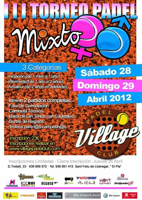 3er Torneo Mixto Village Padel