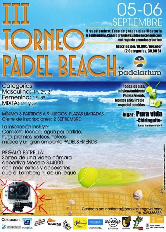 3er Torneo Padel Beach Padelarium Pura vida