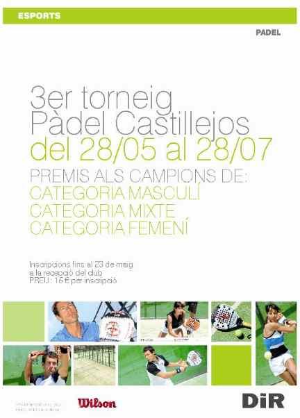 3er Torneo de pádel DIR Castillejos