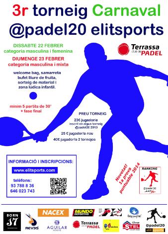 3o Torneo carnaval Padel20 Elitsports