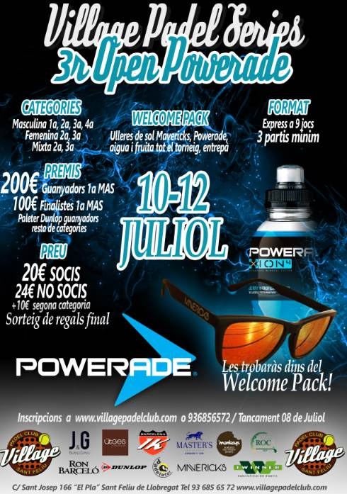 3r OPEN Powerade en el Village Padel Club