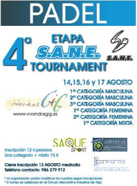 4a Etapa del S.A.N.E Tournament de padel en Vigo