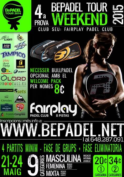 4a prueba BePadel Tour WEEKEND 2015