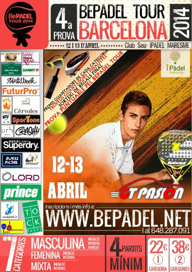 4a prueba Bepadel Tour Barcelona