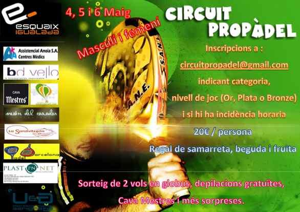 4ª prueba Circuito ProPàdel en el Squash Igualada