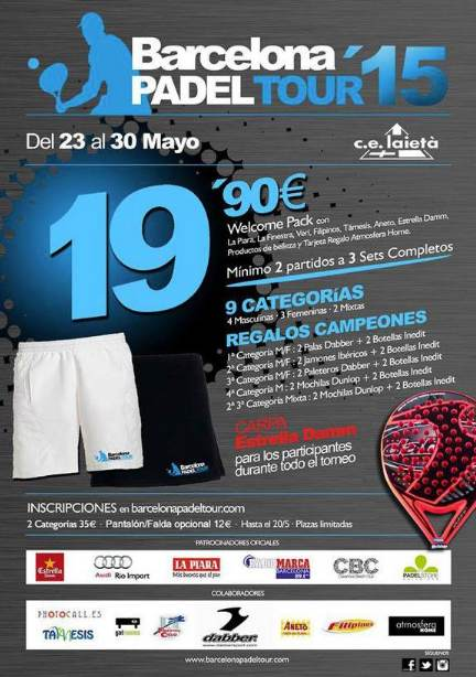 4a prueba de Barcelona Padel Tour 2015
