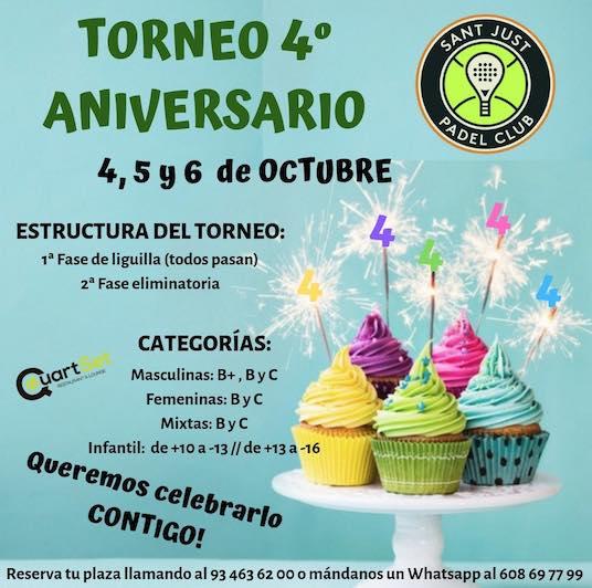 4o Torneo aniversario Sant Just Padel Club