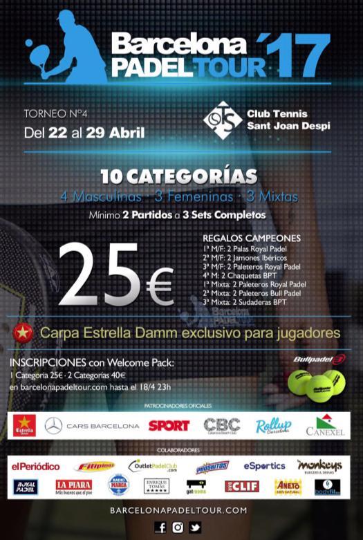 4o torneo Barcelona Padel Tour