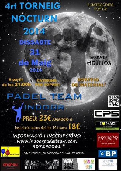 4o Torneo nocturno Indoor Padel Team