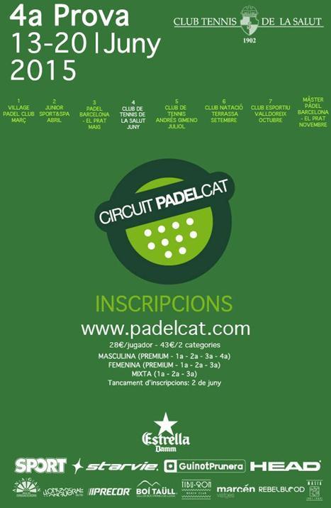 4o torneo Circuit PadelCat en el Club Tennis La Salut