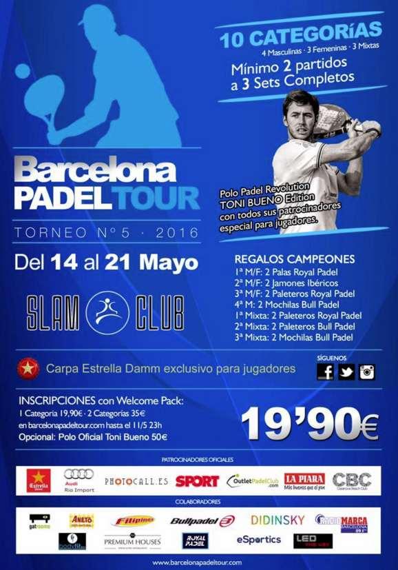5a prueba Barcelona Padel Tour 2016