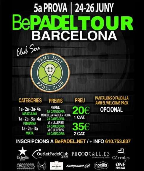 5a prueba Bepadel Tour Barcelona 2016