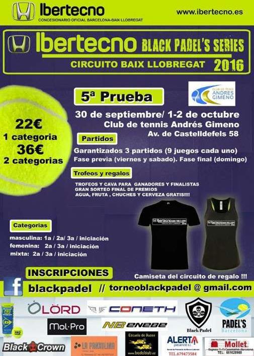 5a prueba circuito Ibertecno Black Padels Series