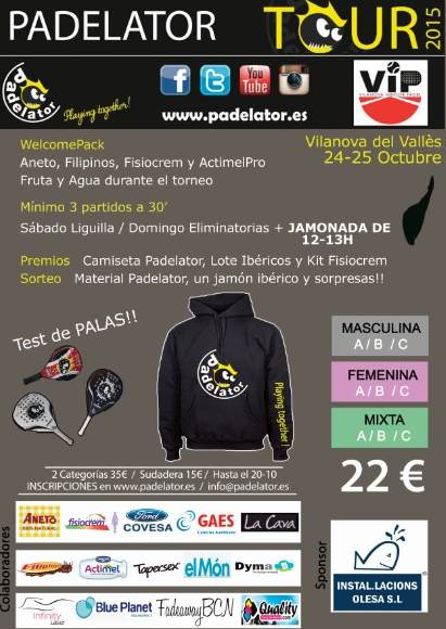 5a Prueba Circuito PADELATOR TOUR 2015