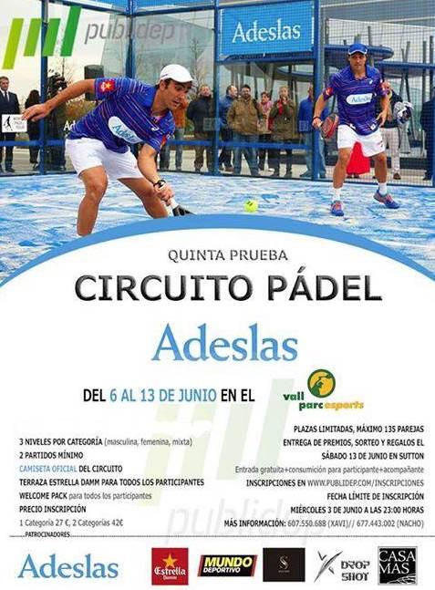 5a prueba Circuito Pádel Adeslas