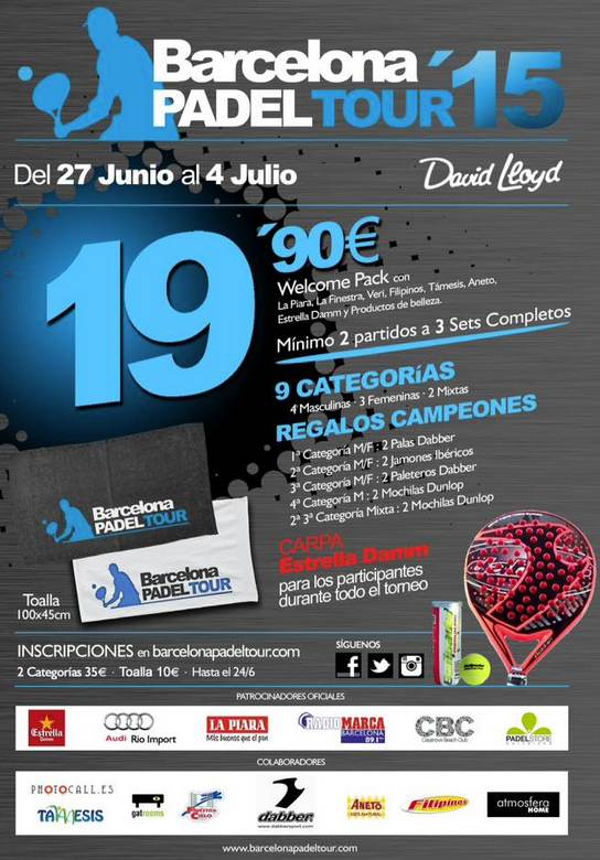 5a prueba de Barcelona Padel Tour 2015