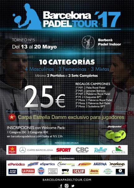 5o Torneo Barcelona Padel Tour 2017