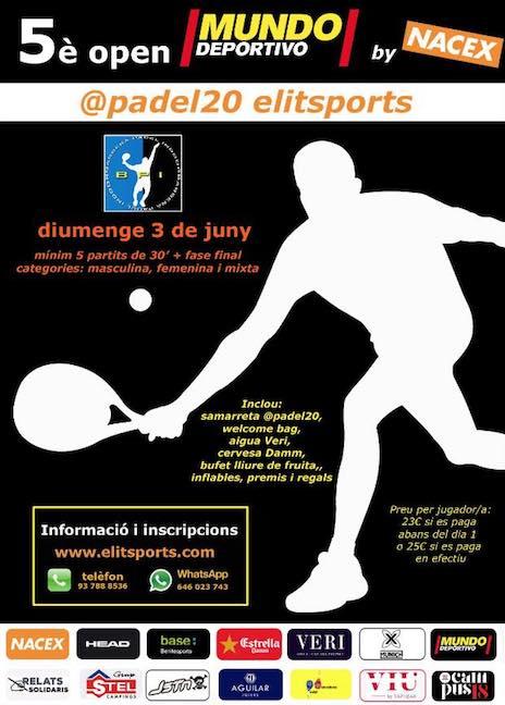 5o open Mundo Deportivo padel20