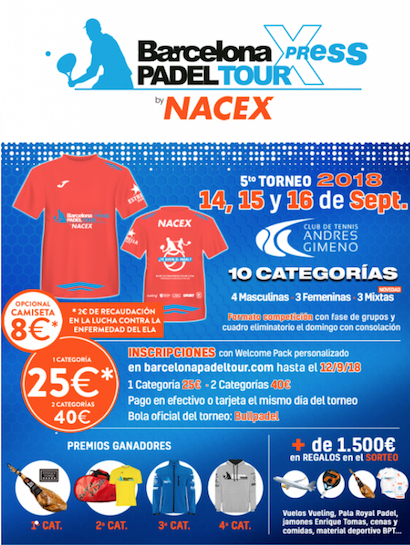 5o torneo Barcelona Padel Tour Xpress By Nacex