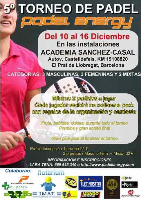 5o Torneo Padel Energy en la academia Sanchez Casal