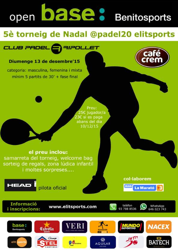 5o Torneo de Nadal @padel20 elitsports