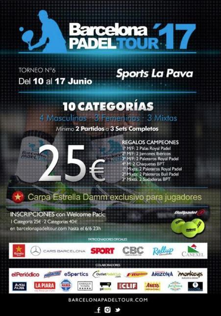 6o torneo Barcelona Padel Tour 2017