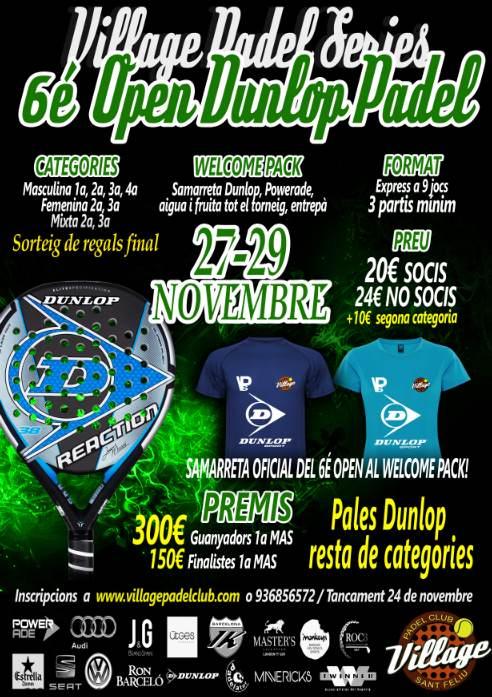 6o Open Dunlop Padel Village Padel series