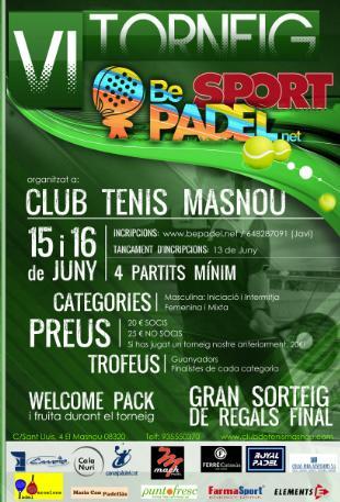 6o torneo Be Padel el club Tenis Masnou