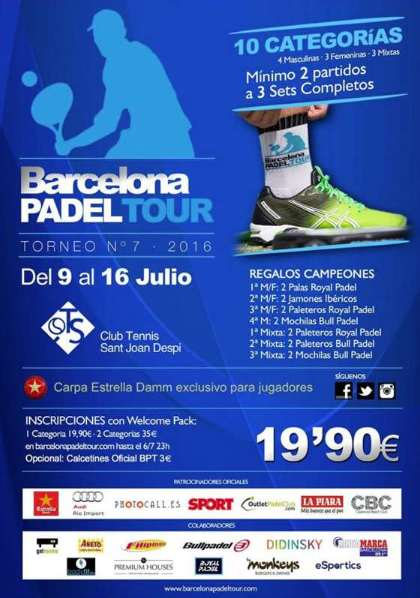 7a prueba Barcelona padel Tour