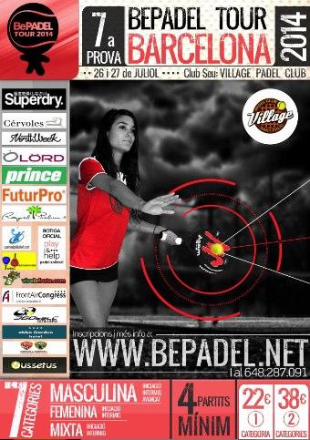 7a prueba bepadel tour barcelona en village padel club