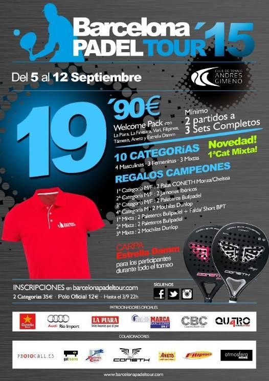 7a prueba de Barcelona Padel Tour 2015