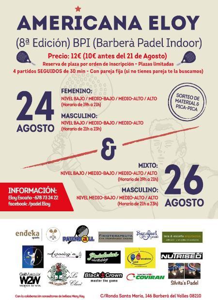 8a Americana Eloy en el club BPI de Barberà del Vallès