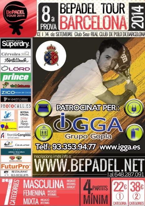 8a prueba bepadel tour barcelona en village padel club