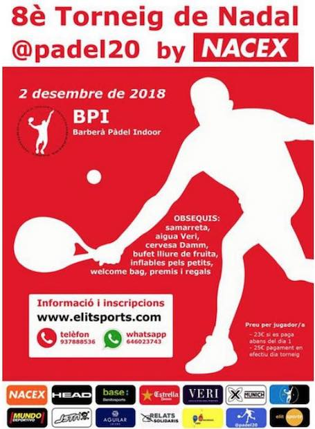 8o torneo de nadal Padel20 By Nacex