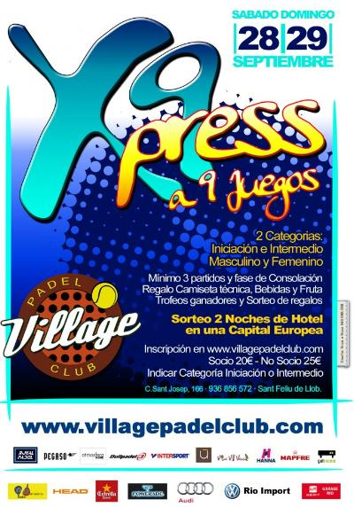 9o Torneo Xpress Village padel Club