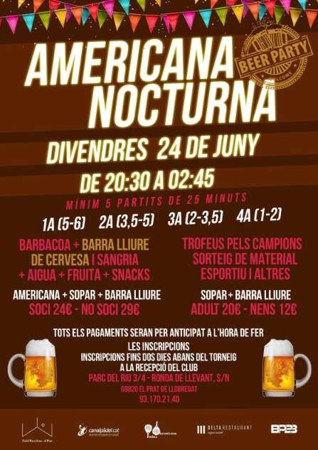 Americana Noctura Padel Barcelona El Prat