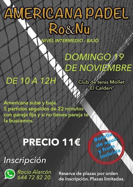 Americana Ro&Nu en el Club de Tennis de Mollet